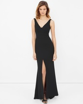White House Black Market Front-Slit Black Gown