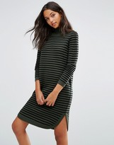 Vero Moda Ribbed Curved Hem Sweater Dress