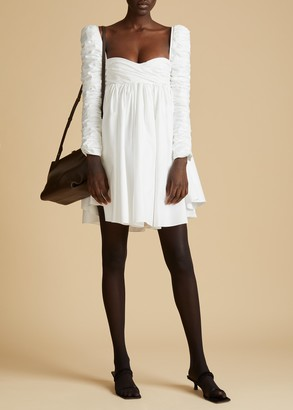 KHAITE The Sueanne Dress in White