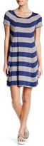 Max Studio Striped Short Sleeve Dress