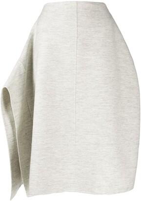 Jil Sander Asymmetric Draped Knitted Skirt