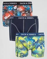 Jack and Jones Trunks 3 Pack with Print
