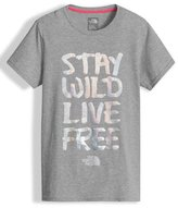 The North Face Stay Wild Live Free Jersey Tee, Gray, Size XXS-L