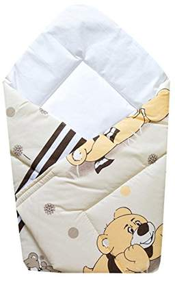 BEIGE Cosing 331 011 152 Baby Swaddling Blanket Baby Pillow Baby Sleeping Bag Bear with Scarf,