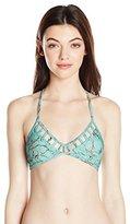 Reef Women's Turquoise Stone T-Back Bralette Bikini Top