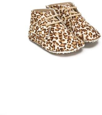 Gallucci Kids Leopard Print Booties