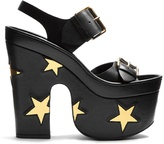 Stella McCartney Star faux-leather slingback platform sandals
