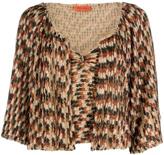 Missoni Pre-Owned 1990s Metallic Gathered Two-Piece Top