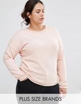 Missguided Plus Raw Edge Sweater