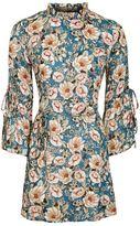 Topshop Peony blush tie sleeve dress