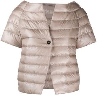 Herno Short-Sleeved Quilted Jacket