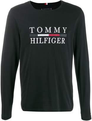 Tommy Hilfiger logo print jersey top