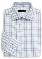 Ike Behar Regular-Fit Tattersall Cotton Dress Shirt