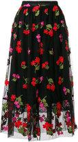 Simone Rocha floral embroidered skirt