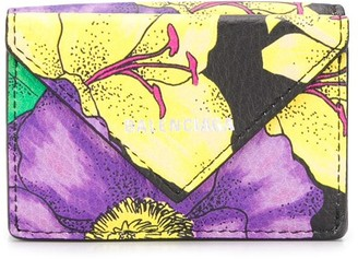Balenciaga Paper floral-print wallet
