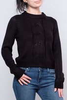 Noisy May Cropped Cableknit Sweater