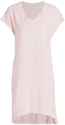 Splendid Evian Racing Stripe T-Shirt Dress