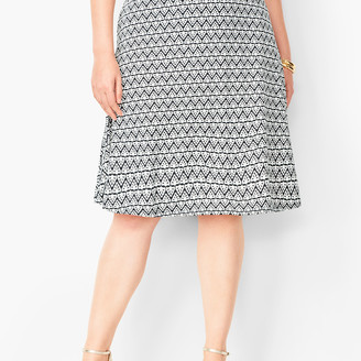Talbots Plus Size Knit Jersey Skirt - Diamond Print