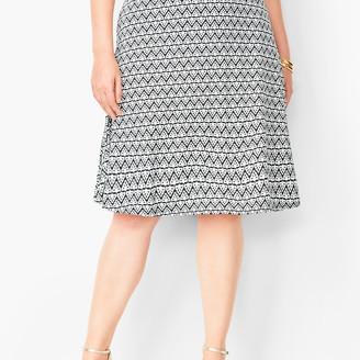 Talbots Plus Size Knit Jersey Skirt - Diamond Print