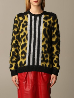 N°21 N 21 Sweater N ° 21 Pullover In Mohair And Wool Mix Animalier