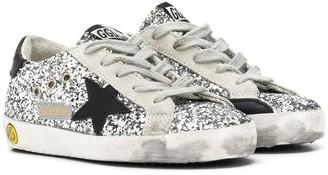 Golden Goose Kids Superstar glittery low-top sneakers