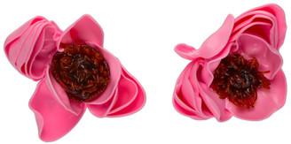 Tetier Pink and Brown Flower Pistil Earrings