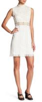 Anna Sui Knit Lace High Neck Dress
