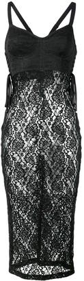 Dolce & Gabbana lace-layered cami-dress