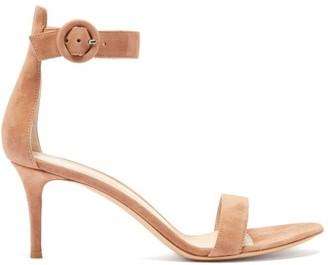 Gianvito Rossi Portofino 70 Suede Sandals - Womens - Nude