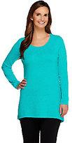 Isaac Mizrahi Live! 2-Ply Cashmere Fluid Hem Sweater Tunic