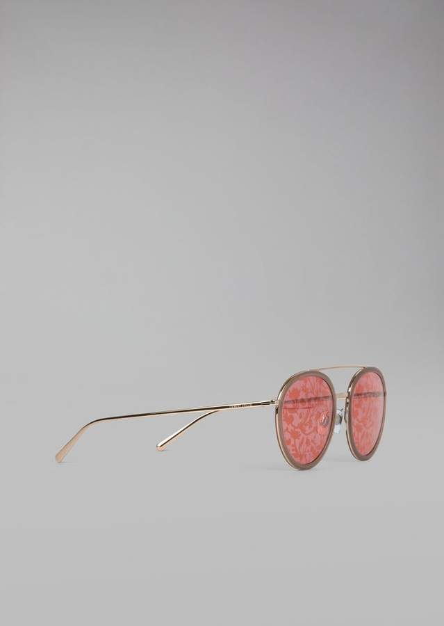 Giorgio Armani Catwalk Sunglasses With Floral Lenses