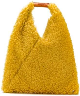MM6 MAISON MARGIELA faux-shearling tote bag