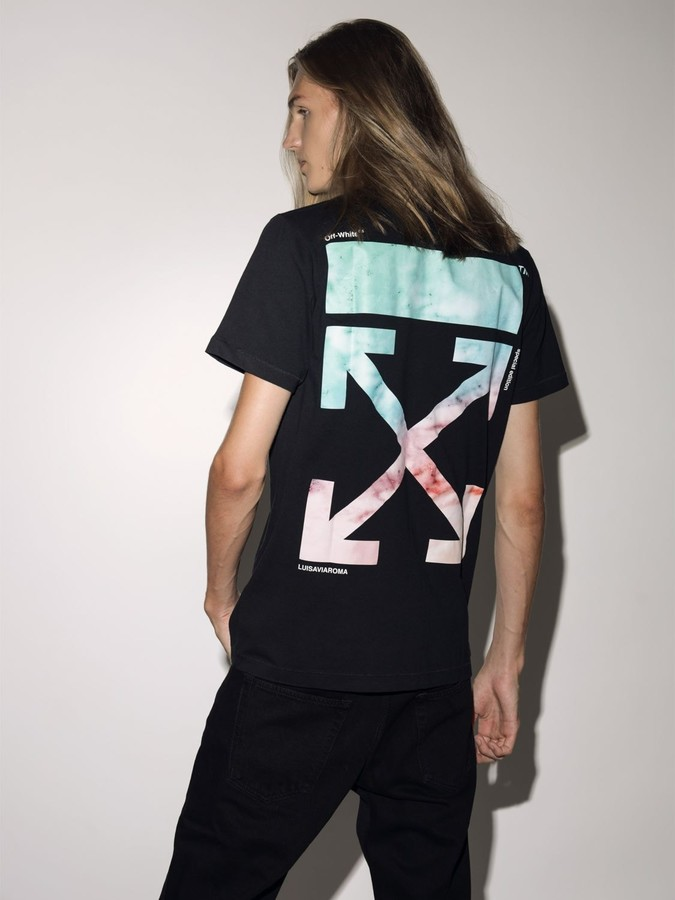 Off-White Off White LVR EXCLUSIVE PRINTED COTTON T-SHIRT