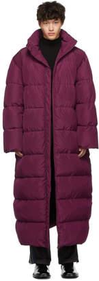 Balenciaga Pink Oversized Puffer Coat