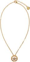 Versace Gold Round Cage Medusa Necklace
