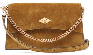 Métier Metier - Roma Small Suede Shoulder Bag - Tan
