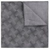 Hugo Boss Pocket sq. cm 33x 33 Italian Cotton Patterned Pocket Square One Size Black