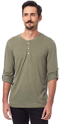 Alternative Long Sleeve Surplus Henley (Eco True Army Green) Clothing