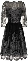 House of Fraser Chi Chi London Metallic lace tea dress