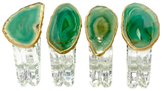 Mapleton Drive Napkin Rings with Agate (Set of 4)