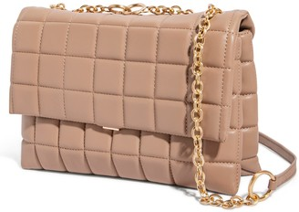 House of Want H.O.W. We Step Up Shoulder Bag In Taupe