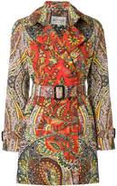 Etro printed trench coat