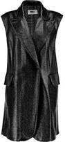 MM6 MAISON MARGIELA Textured Faux Patent-Leather Vest