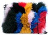 Loeffler Randall fox fur pouch