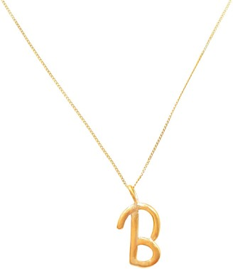 Lily Flo Jewellery 14K Solid Gold Letter B Pendant Necklace