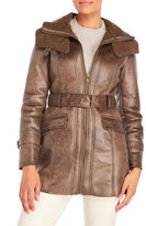 Kenneth Cole Distressed Faux Shearling Coat