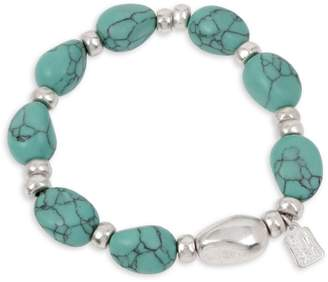 Robert Lee Morris Soho Turquoise Stone Beaded Stretch Bracelet