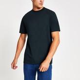 Mens River Island Navy crew neck short sleeve T-shirt