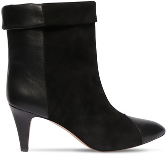 Isabel Marant 75mm Dael Suede & Leather Ankle Boots