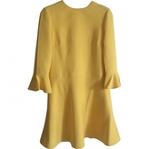 Valentino Yellow Wool Dress